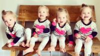 Ashley Gardner's quadruplet girls