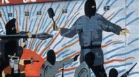 A paramilitary mural