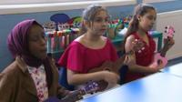 Pupils playing the ukelele
