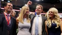 Donald hijo, Ivanka, Eric y Tiffany Trump