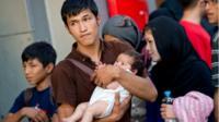 Migrants arrive in Munich (31 August)