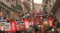Protesters against austerity measures