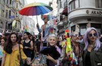Gay pride march in Istanbul, 30th June 2013