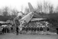 british midlands kegworth air disaster British midland flight 92 the scene of the disaster, w.