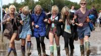Fans braved the bad weather at this year's Glastonbury