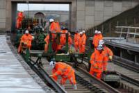Rail maintenance workers