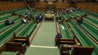 The Chamber of the House of Commons during a recent debate on Scottish devolution