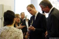The Duke of Cambridge plays a synth guitar