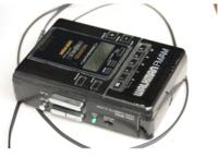 A Sony Walkman WM-BF65 portable audio cassette player, with FM/AM radio, dating from about 1989