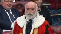 Sir Robert Rogers being sworn in as Lord Lisvane