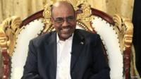 Sudan's President Omar al-Bashir smiles during an interview at the presidential palace in Khartoum