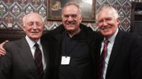 Lord Kinnock, Ralph McTell and Peter Hain
