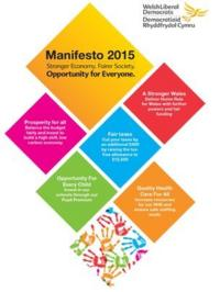 The Welsh Lib Dems' manifesto cover