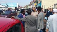 Mohamed Mohamoud outside mosque