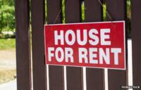 A house for rent sign