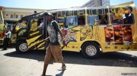 A matatu (minibus taxi) on the streets of Nairobi