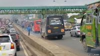Gridlocked road in Nairobi