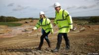 David Cameron visits a building site in the Hastings and Rye constituency
