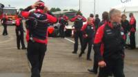 F1 crash scene at Duxford