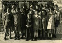 The children gathered together in Greenland