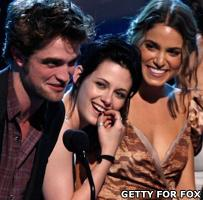 Robert Pattinson, Kristen Stewart and Nikki Reed