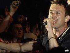 Damon Albarn at Glatonbury 2009
