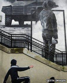 Mural in Northern Ireland