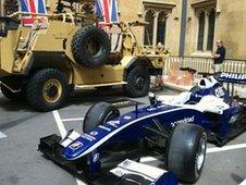 Jackal armoured vehicle and Williams F1 car