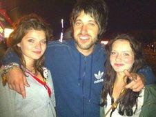 Libertines fan Richard, from Cheshire with friends Keighley and Megan