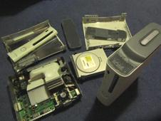 Chipped games console
