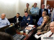 Barack Obama and his team