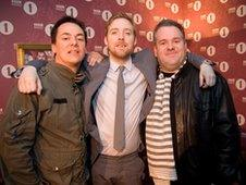 Comedy Dave, Ricky Wilson and Chris Moyles
