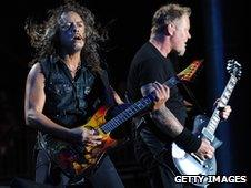 Kirk Hammett and James Hetfield from Metallica