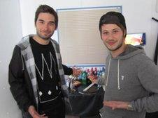 Matt Barnes and Max Helyer from You Me At Six