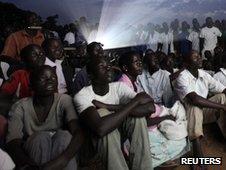 Kony screening in Uganda