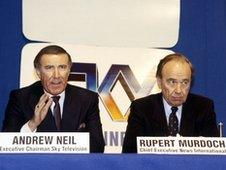Andrew Neil and Rupert Murdoch