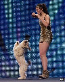 Pudsey with owner Ashleigh