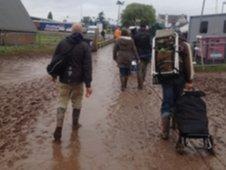 Muddy arrivals