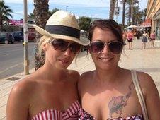 Rebecca Pin and Victoria Evans