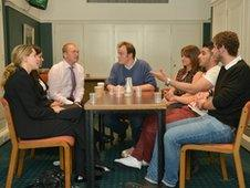 MPs sit opposite Newsbeat listeners in Parliament