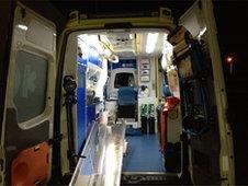 Ambulance in Ibiza