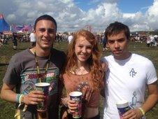 Craig Andrews, Grace Griffiths and Sam Higgins