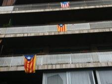 Independence flags in Barcelona