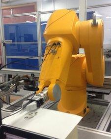Robotic arm at Sheffield Hallam University