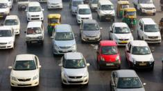 Delhi traffic on first day of rule