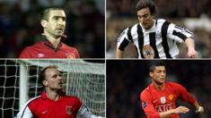 Eric Cantona, David Ginola, Dennis Bergkamp, Christiano Ronaldo