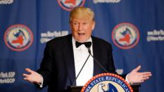 Republican presidential candidate Donald Trump speaks during the 2016 annual New York State Republican Gala on April 14, 2016 in New York City