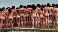 Naked people from behind