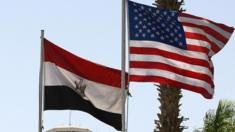Egyptian and US flags