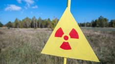 Nuclear warning sign, Chernobyl